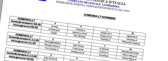 Ordine di lavoro interregionale serie C GAF 16/17 novembre 2013